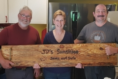 we made this live edge charcuterie board for Danny and Janice - thanks for the great year-end dinners!