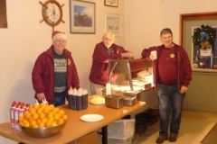 Almost ready to start serving Breakfast with Santa